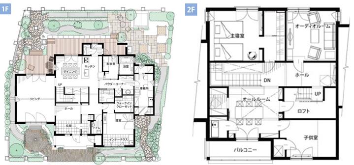 北洲ハウジングの二世帯住宅