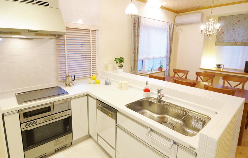 ビルトイン食洗機を採用したキッチン